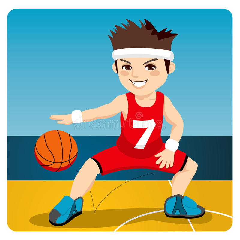 Joueur de basket actif illustration de vecteur