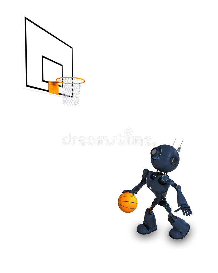 Joueur de basket d'Android illustration de vecteur