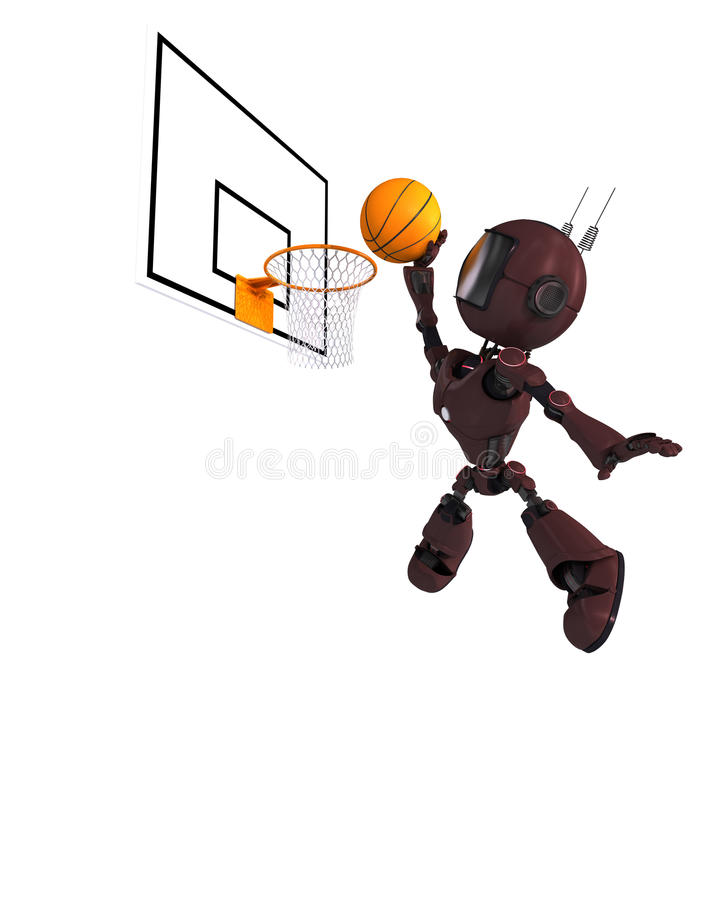 Joueur de basket d'Android illustration stock