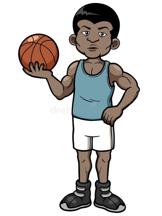 Joueur de basket de bande dessinée illustration stock