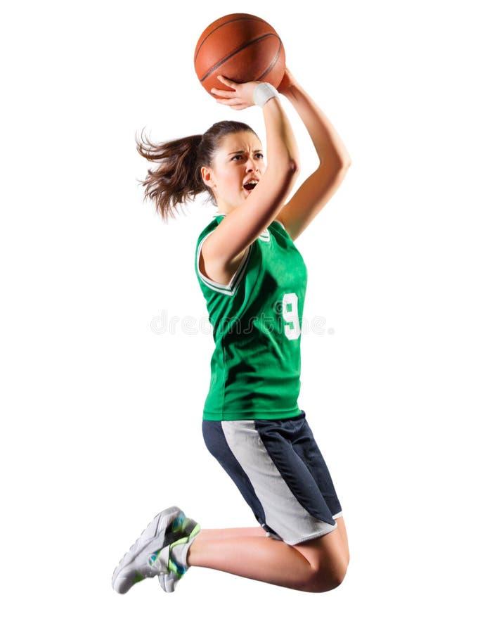 Joueur de basket de jeune fille photographie stock libre de droits
