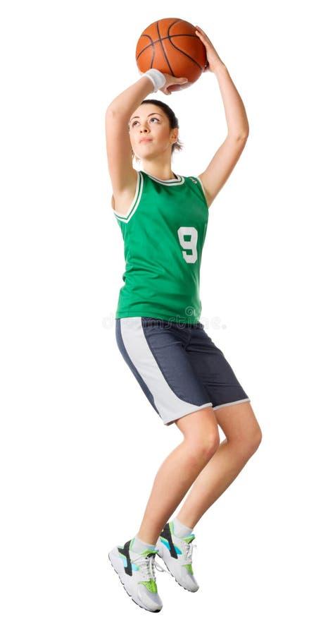 Joueur de basket de jeune fille photos stock
