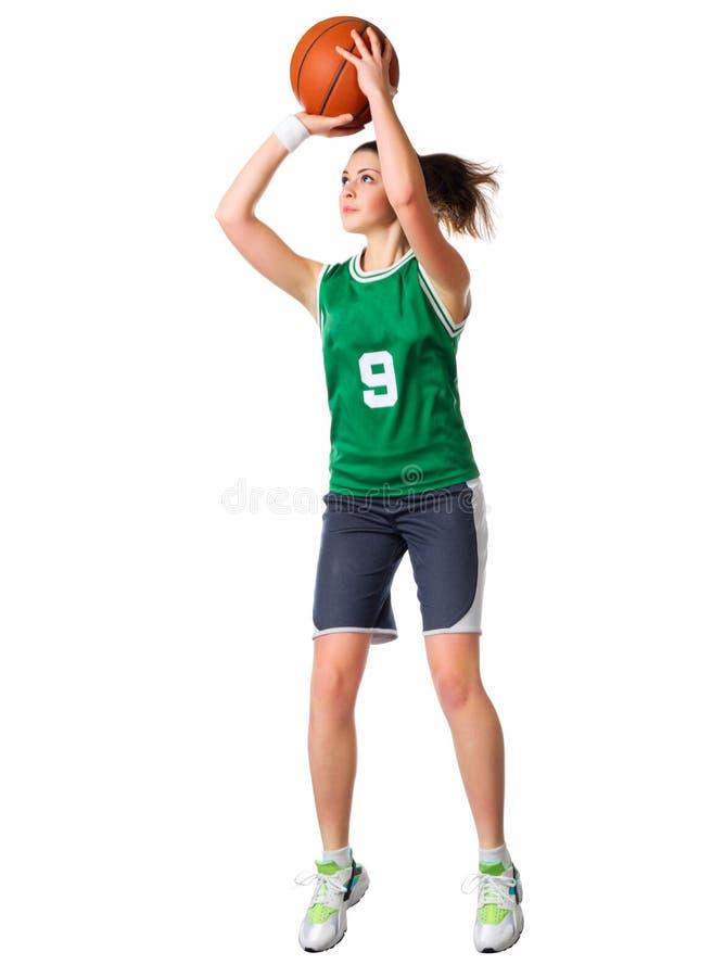 Joueur de basket de jeune fille photo stock