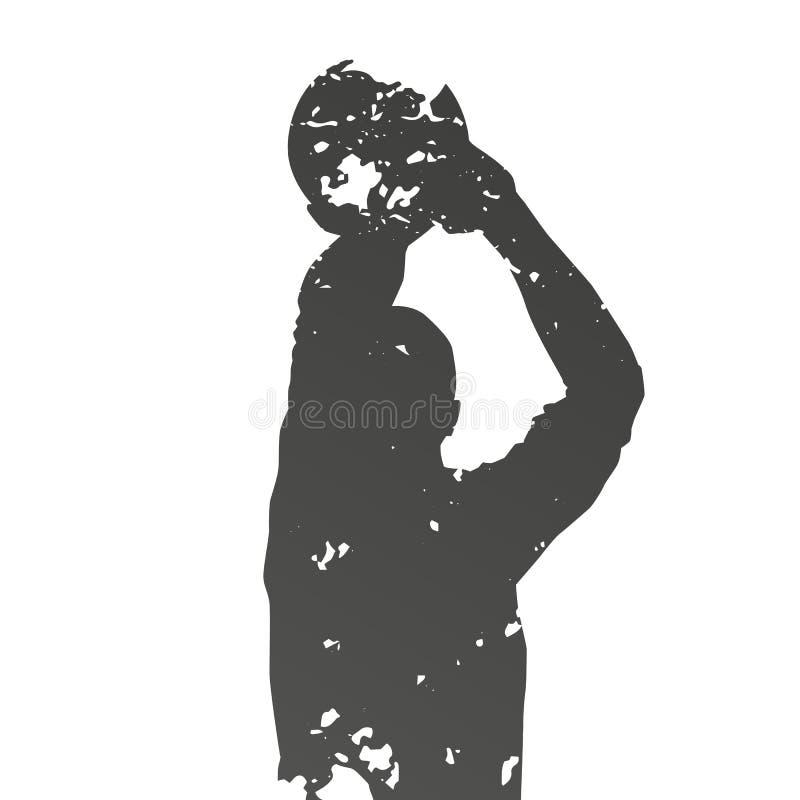 Joueur de basket sale abstrait illustration de vecteur