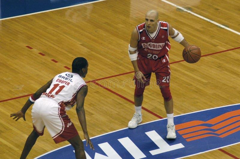 Joueur de basket Sasha Djordjevic image libre de droits