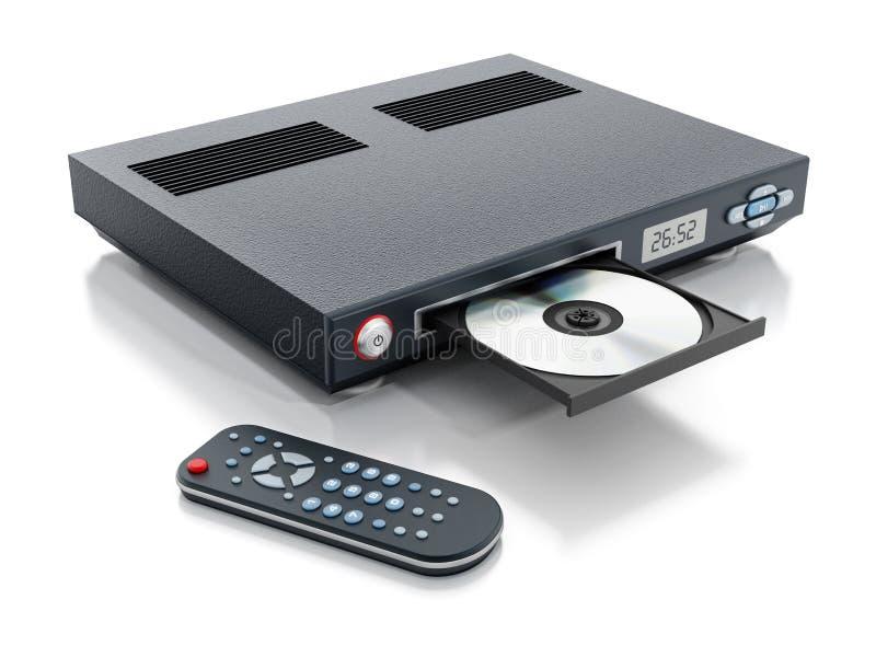 Joueur de Blu-ray avec le plateau ouvert de disque images libres de droits