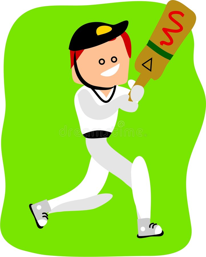Joueur de cricket illustration stock