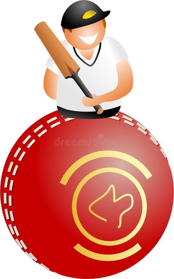 Joueur de cricket illustration libre de droits