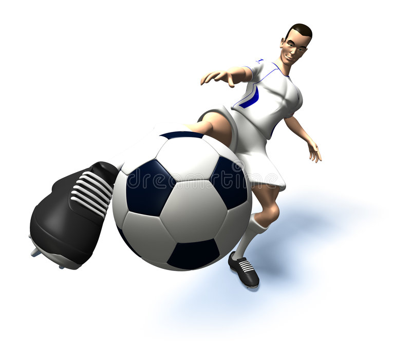 Joueur de football illustration stock