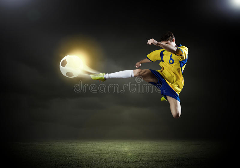 Joueur de football photo stock