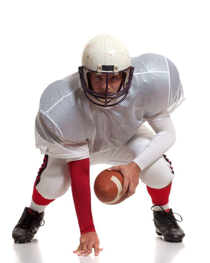 Joueur de football américain. photo stock