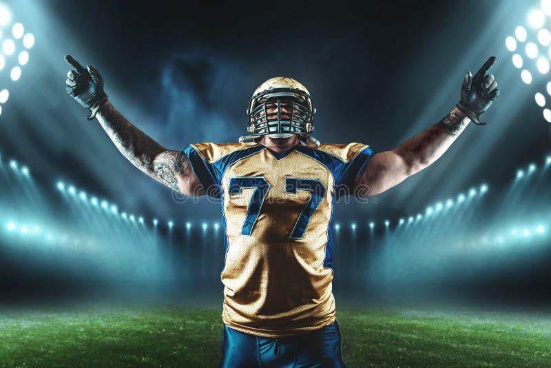 Joueur de football américain, gain de jeu photos stock
