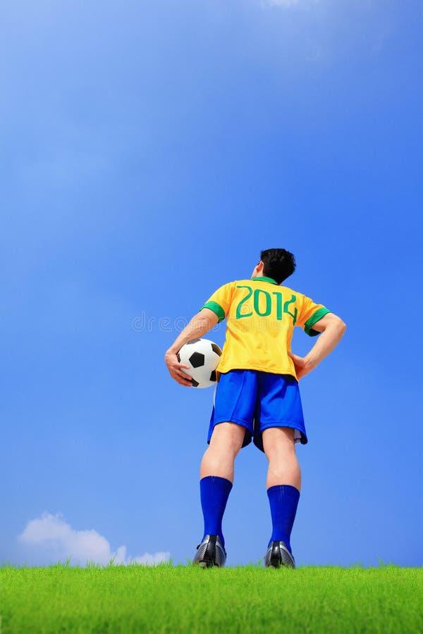Joueur de football brésilien image stock