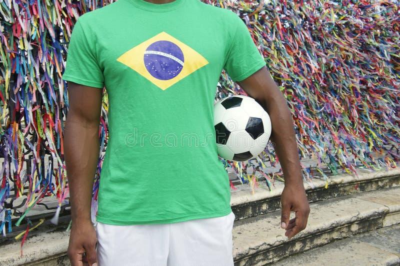 Joueur de football brésilien du football Salvador Wish Ribbons photo stock