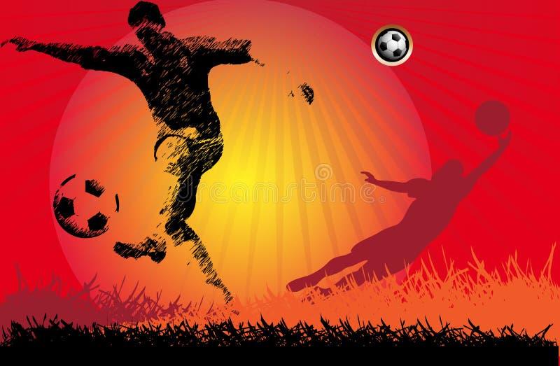 Joueur de football d'action du football illustration de vecteur