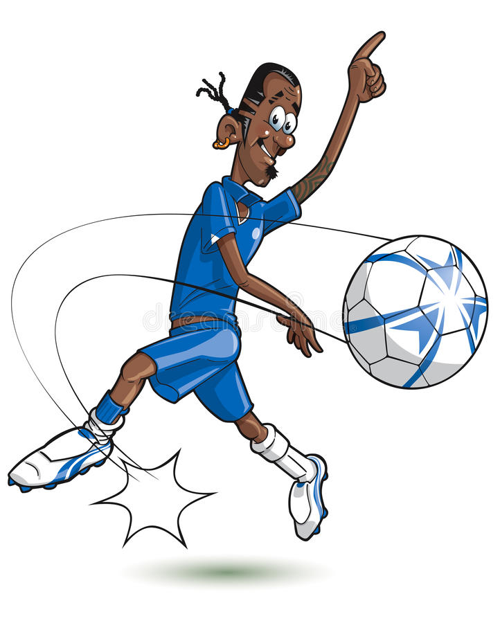 Joueur de football de dessin anim photographie stock - Dessins de football ...