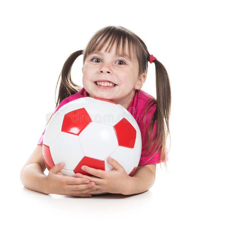 Joueur de football de petite fille photographie stock