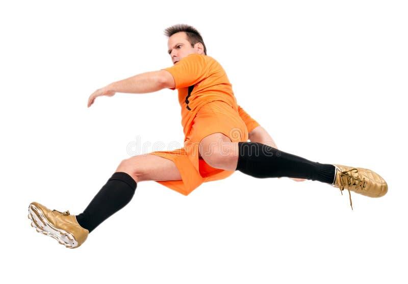 Joueur de football du football images libres de droits
