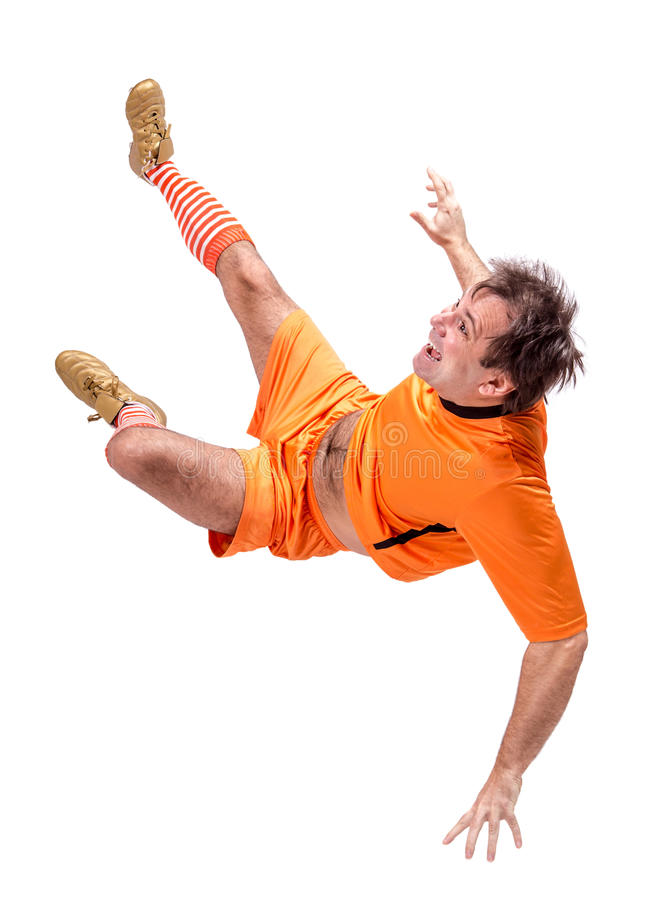 Joueur de football du football images stock