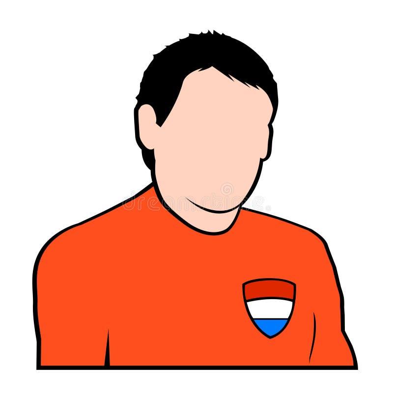 Joueur de football hollandais illustration de vecteur
