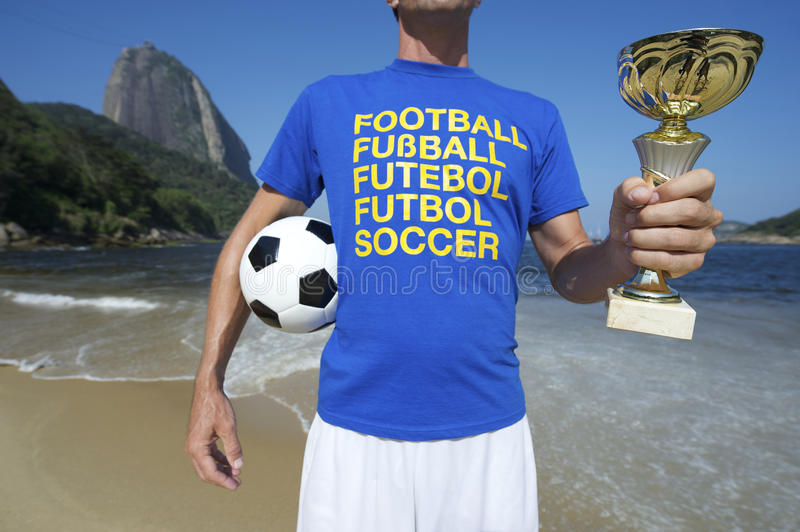 Joueur de football international du football Ipanema Rio image stock