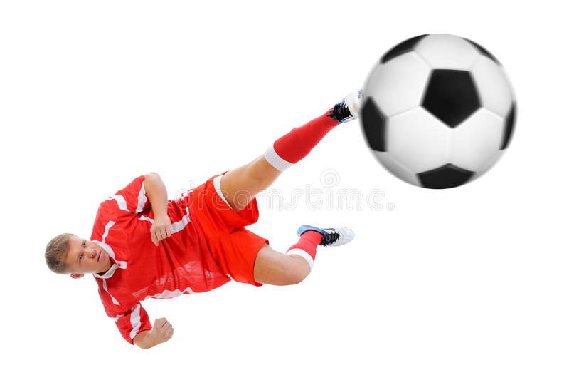 Joueur de footballer photos stock