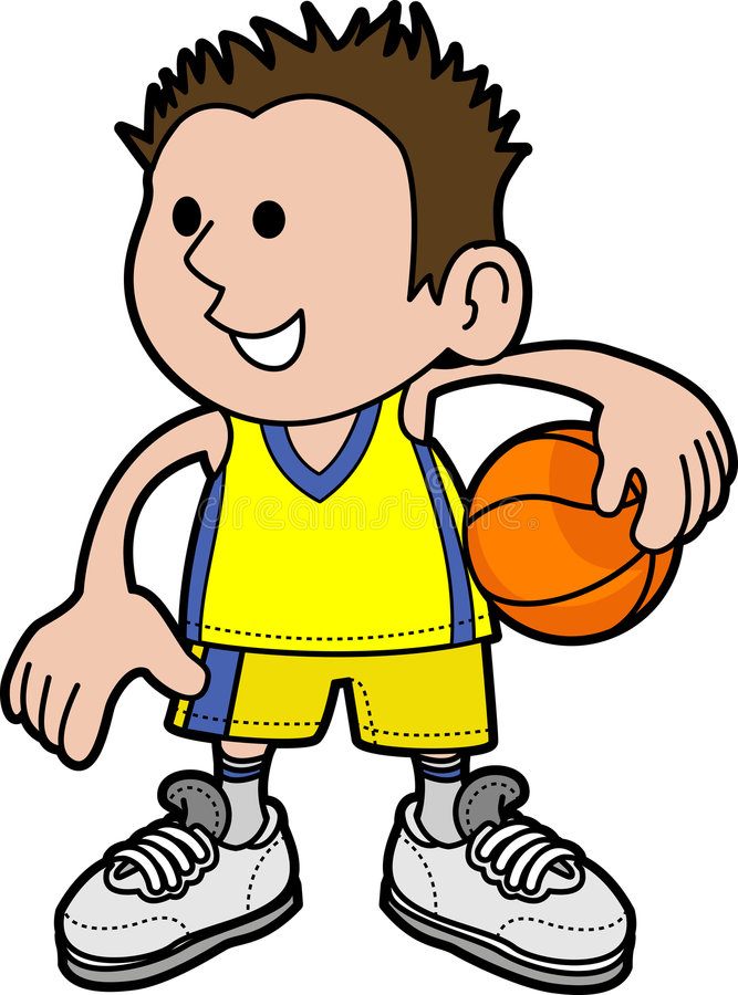 joueur de garçon de basket-ball illustration stock