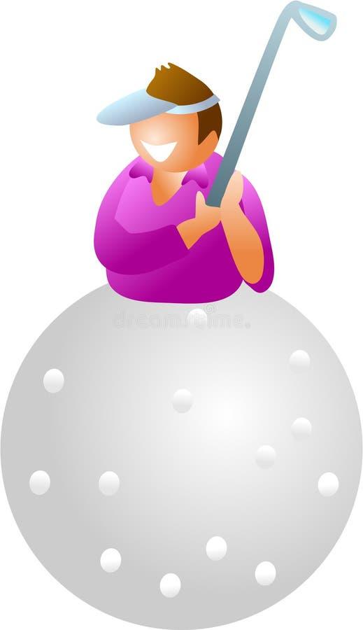 Joueur de golf illustration de vecteur