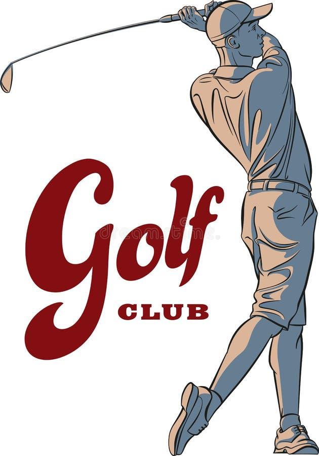Joueur de golf illustration stock