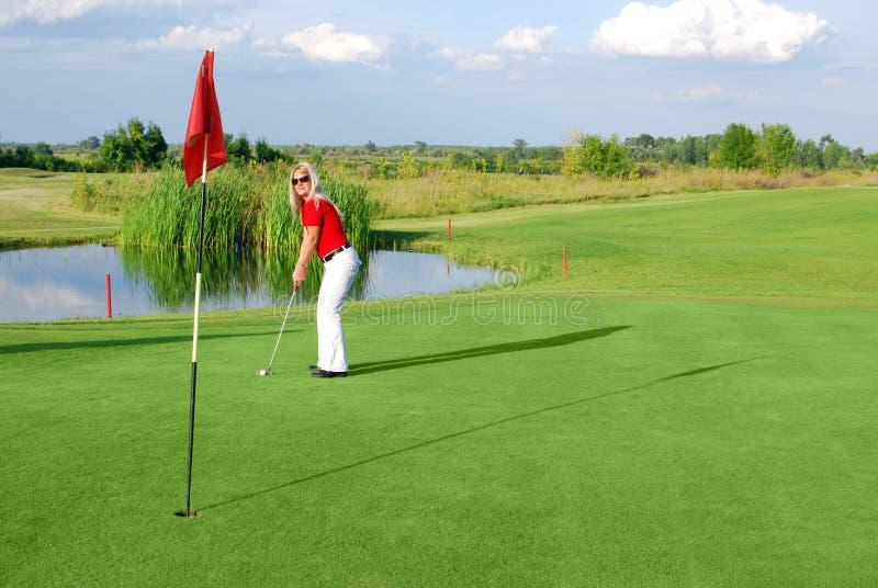 Joueur de golf de fille images libres de droits