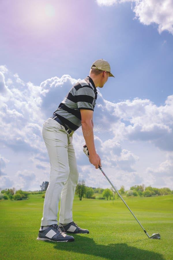 Joueur de golf mâle photographie stock