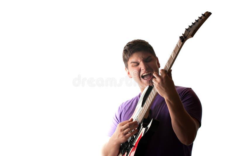 Joueur de guitare électrique photo libre de droits