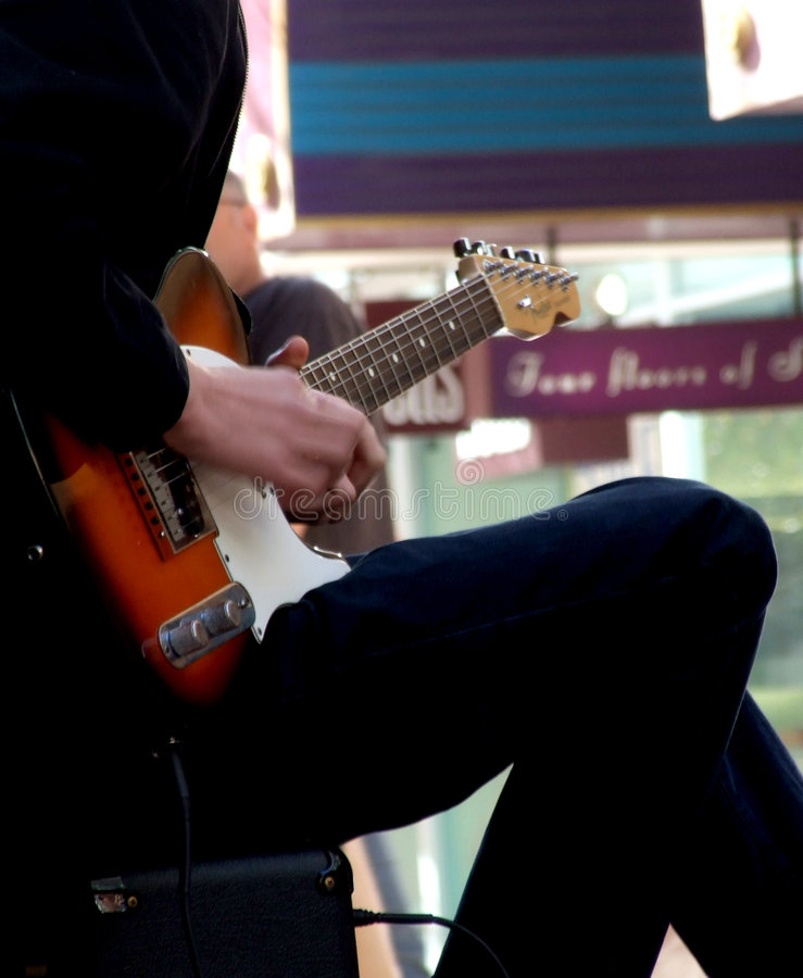 Joueur de guitare photo libre de droits