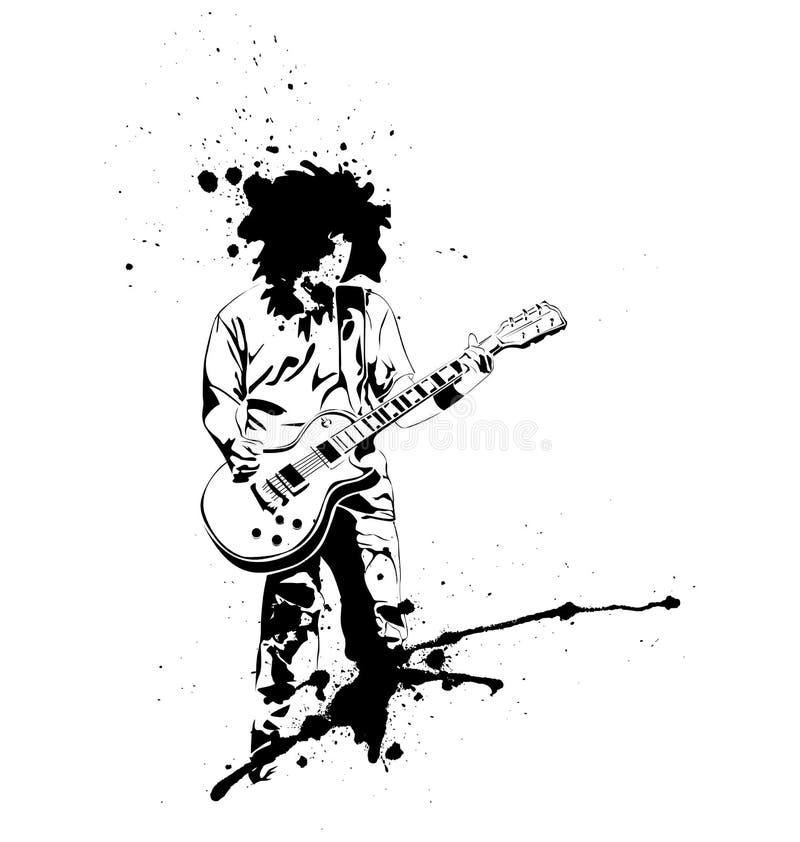 Joueur de guitare illustration de vecteur