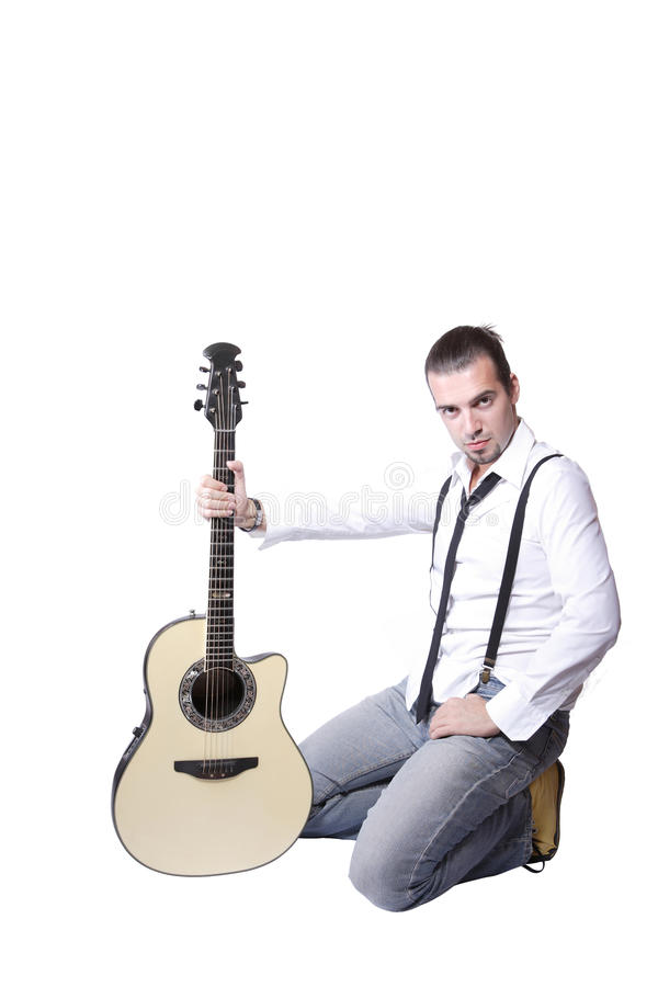 Joueur de guitare latin image libre de droits