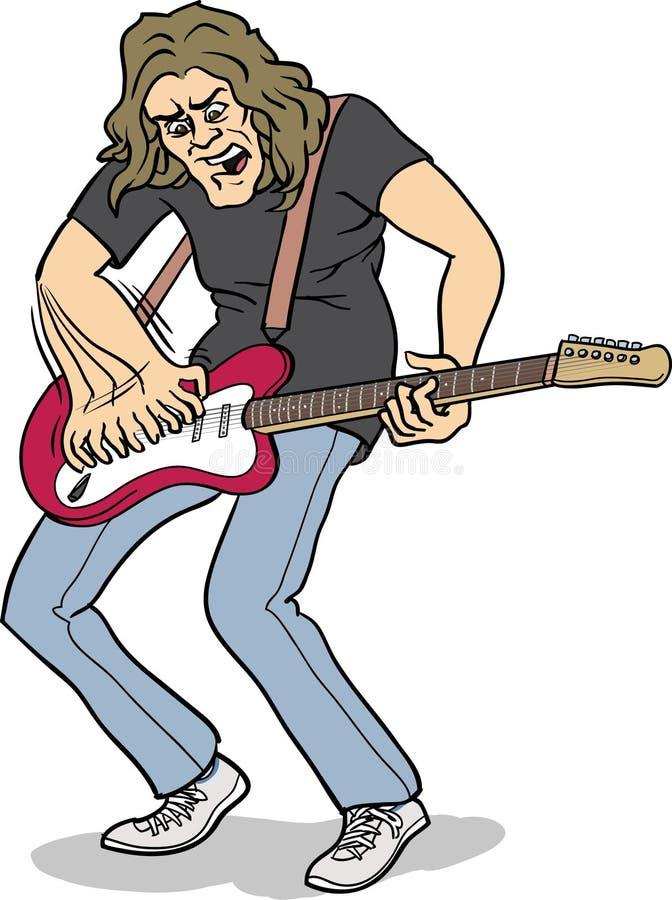 Joueur De Guitare Lourd De Roche Image libre de droits