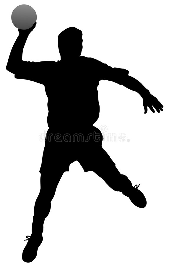 Joueur de handball illustration stock