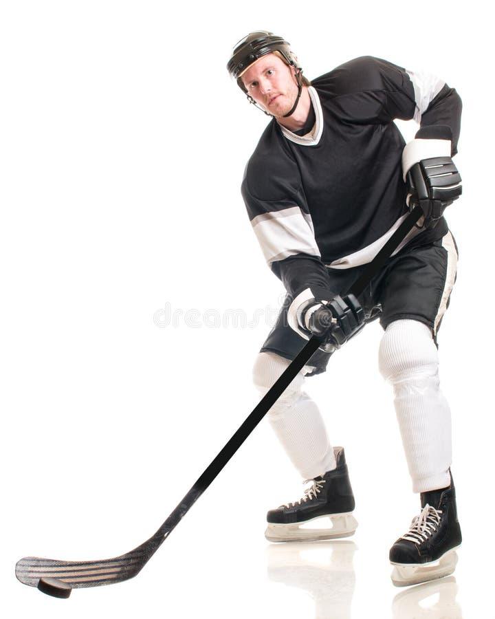 Joueur de hockey sur glace photographie stock