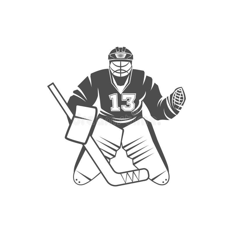 Download Joueur de hockey sur glace illustration de vecteur. Illustration du tête - 87708930