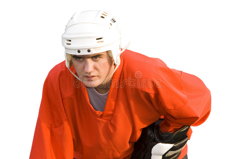 Joueur de Hockeyball photo stock