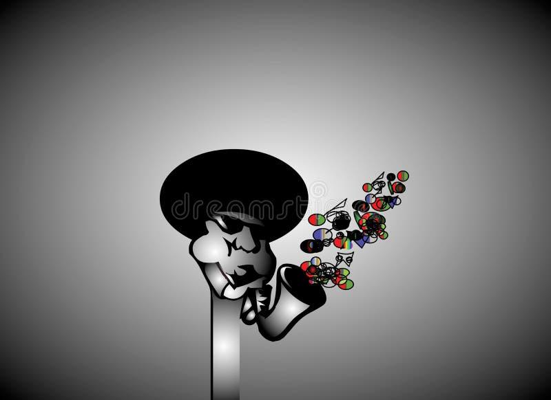 Download Joueur de jazz d'Afro illustration de vecteur. Illustration du morphing - 8657740