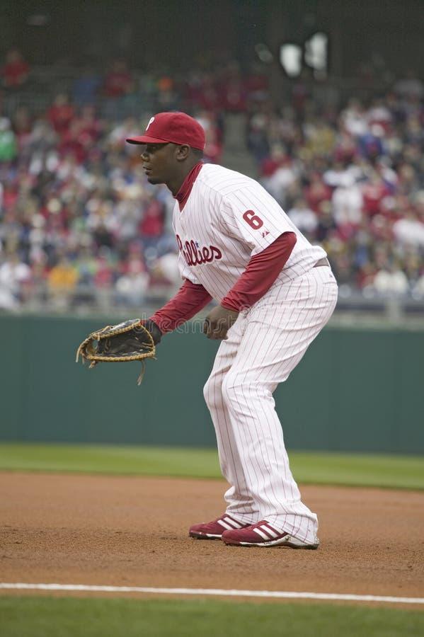 Joueur de Ligue Majeure de Baseball photo stock