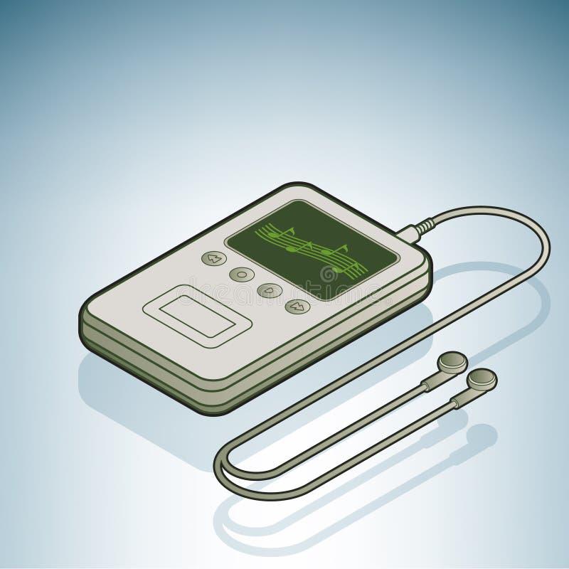 Joueur de musique MP3 illustration de vecteur