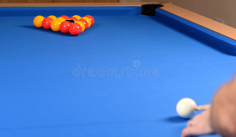 Joueur de piscine photos libres de droits