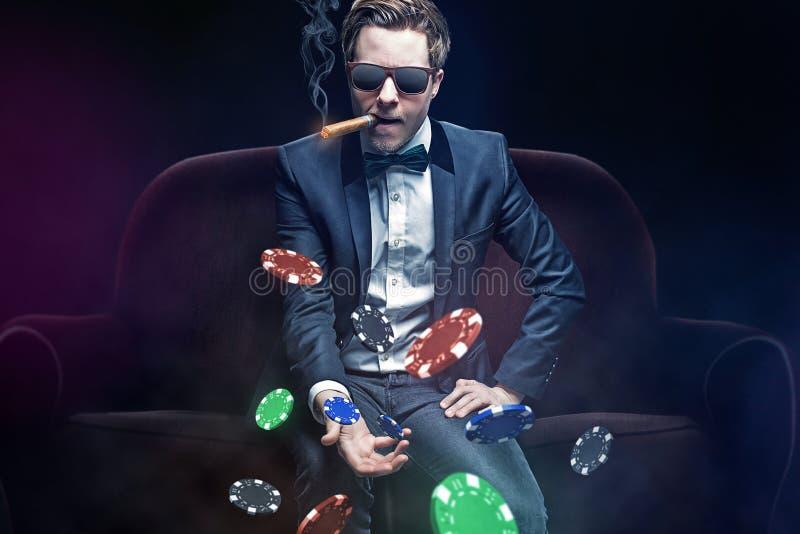 Joueur de poker photographie stock
