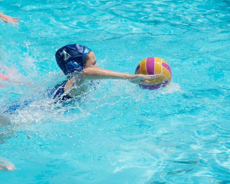 Joueur de polo d'eau photographie stock