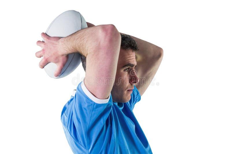 Download Joueur De Rugby Environ Pour Jeter Une Boule De Rugby Photo stock - Image du : 56486070