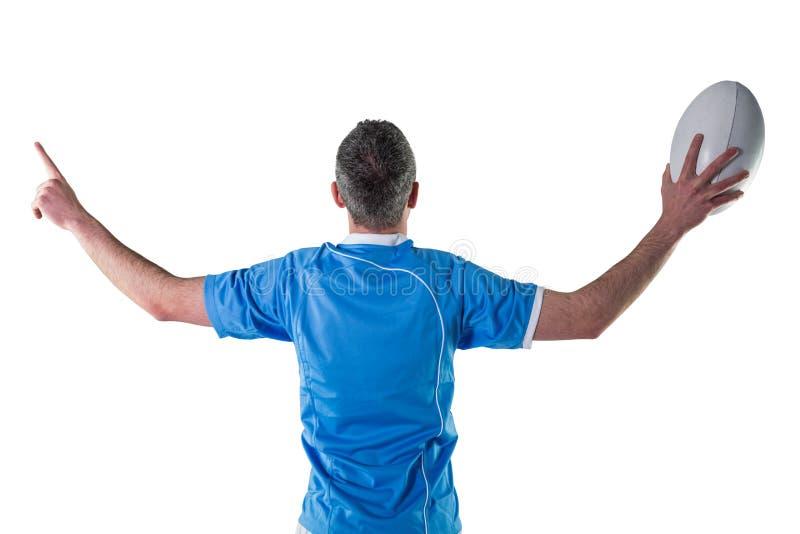 Download Joueur De Rugby Faisant Des Gestes Avec Des Mains Photo stock - Image du : 56486112