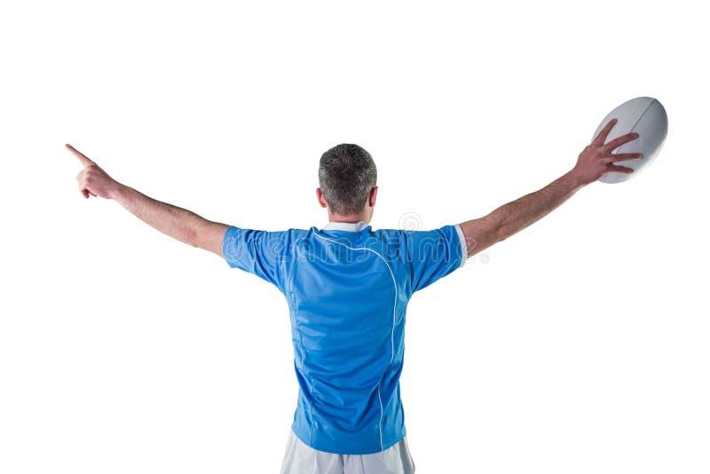 Download Joueur De Rugby Faisant Des Gestes Avec Des Mains Image stock - Image du rester, joint: 56486413