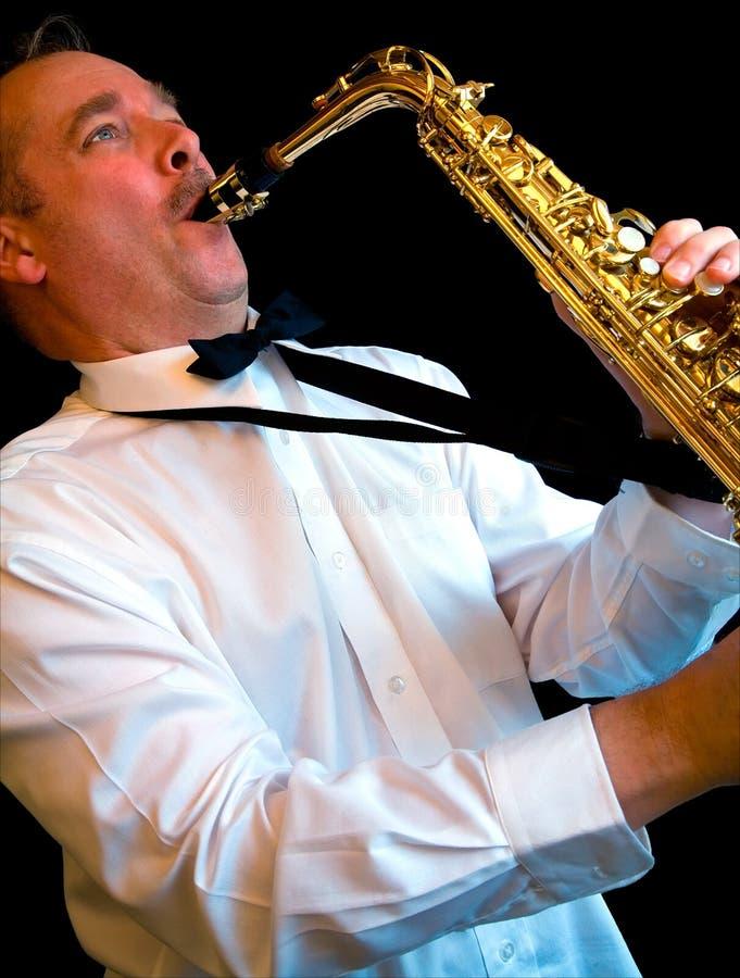 Joueur de saxophone photos stock
